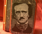 ACEO Storage Tin Lunchbox Poe Raven