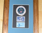 UNITED STATES AIR FORCE POSTAGE STAMP PLAQUE