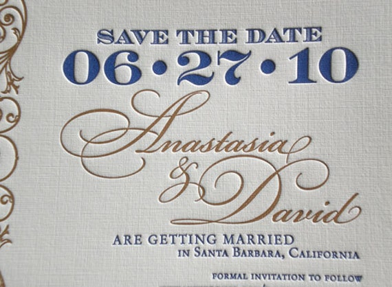 Letterpress Save the Date - No. 9 - Sample