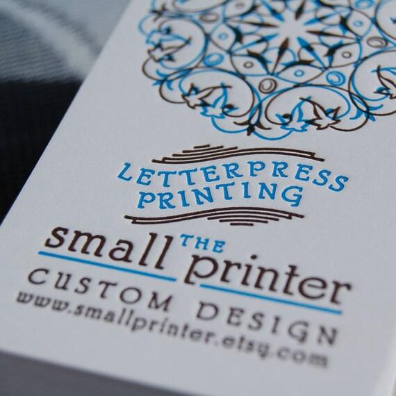 Letterpress Business Cards - Sample