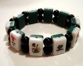 Mah-Jong Tile Stretch Bracelet