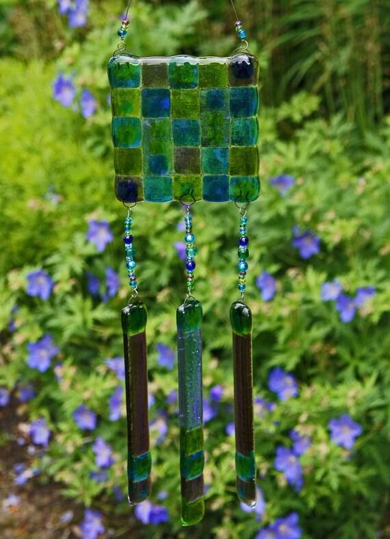 Suncatcher Wind Chime - Blue Green Purple