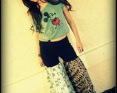 LOVE Hippie Vintage Tapestry Bell Bottoms Patchwork Sweat Pants