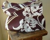 Petite Shoulder Bag -  Amy Butler August Fields - Graceful Vine in Ivory