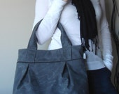 Weekend Tote - Waxed Canvas in Charcoal - reserved for daron7