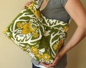 Pleated Shoulder Bag with Adjustable Strap - Joel Dewberry Deer Valley Antler Damask
