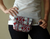 Convertible Hip Pouch - Joel Dewberry Deer Valley Artichitectural in Sky