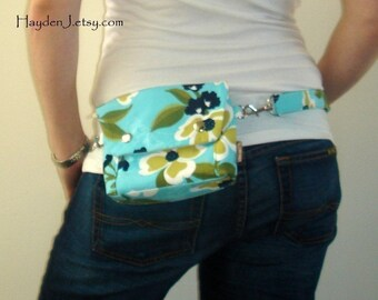 Convertible Hip Pouch - Joel Dewberry Dogwood Bloom in Pond
