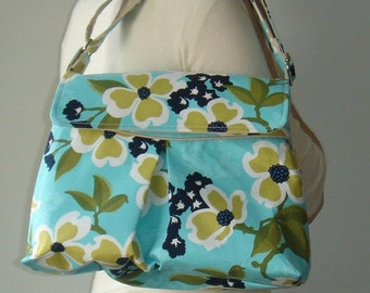 Petite Shoulder Bag - Joel Dewberry Modern Meadow - Dogwood Bloom in Pond