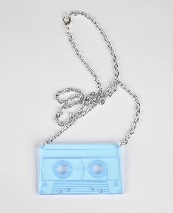 Mix Tape - Laser Cut Acrylic Necklace