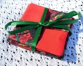 Set of Four Elegant Christmas Coasters