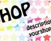Premade Rainbow Star Etsy banner and avatar OOAK