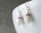 Petite Pink Sparkle Earrings