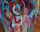 Destash Yarn Scraps Grab Bag for Scrapbooking - Card Embellishing - Art Projects - Crafts