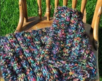 Chunky Blanket Photo Prop - Newborn Baby Wrap - Basket Filler - Trenchbowl Blanket - Multicolor - Blue - Yellow - Pink - Orange - Purple