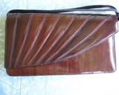REDUCED PRICE- vintage eel skin clutch purse