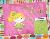New Item Girls personalized tooth fairy pillow  complete with poem to tooth fairy