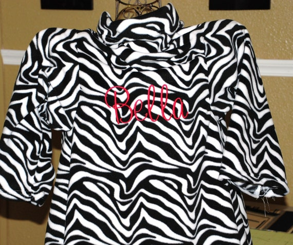 Zebra Print Snuggie Girls Personalized Zebra Print