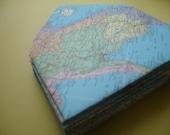 Vintage 1954 Hammond World Atlas Envelope and Card Stationery Set \/ \/ a d n a g a m e n v e l o p e s \/ \/