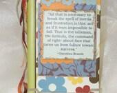 Gratitude Journal, Green, Blue and Orange-Brande Quote