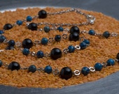Jasper and Onyx Beaded Necklace