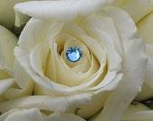 Aqua Blue Rhinestone Bouquet Jewels 5mm Flower Jewelry 12 stems