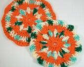 Falling Leaves Crocheted Trivets