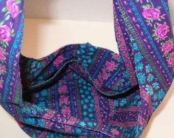 Purple Flowered Bag
