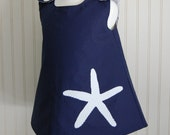 Starfish Navy Blue Dress - Jumper Size 3 by The Trendy Tot