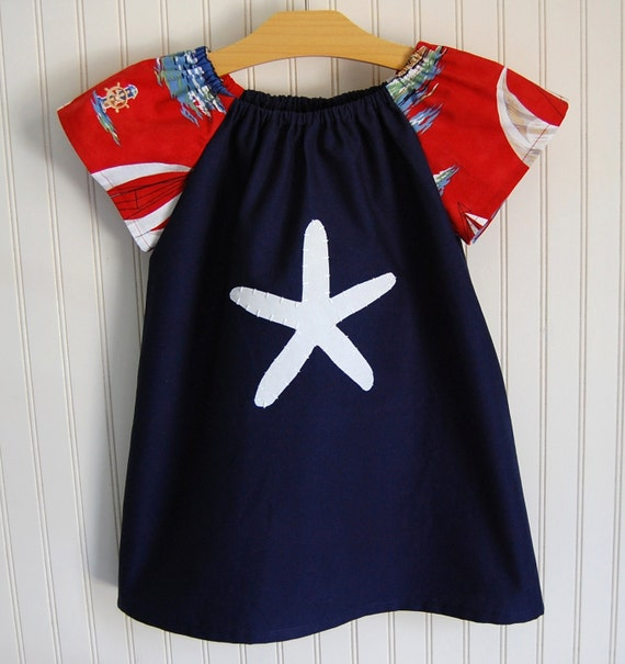 Nautical Starfish Dress - 4/5T ONLY by The Trendy Tot
