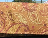 Coupon Holder  Purse Organizer Paisley Browns and Beige Fabric