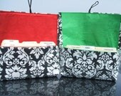 Waterproof Coupon and Purse Organizer Holder Black and White Damask