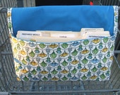 Coupon Organizer, Ready to Ship, Coupon Holder Scalloped Floral Fabric