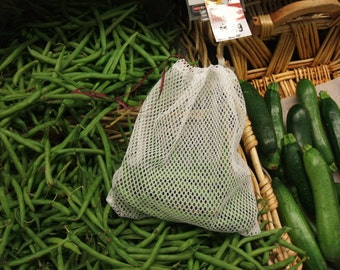 Mesh Produce Bags, Set of 6, vegetable bags, fruit bags, food storage, wash bags