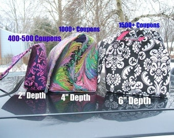 "Coupon Organizer Holder 6""  Deep Mega Deluxe - Choose your own fabric"