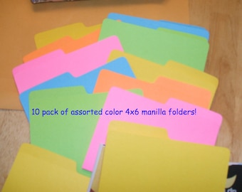 4 x 6 Manilla Folders for Coupon Organizers Pack of 10