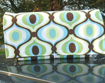 Coupon Holder Organizer Oval 60's Pattern Fabric