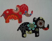 Elephant Hand Cut NO SEW Iron On Applique