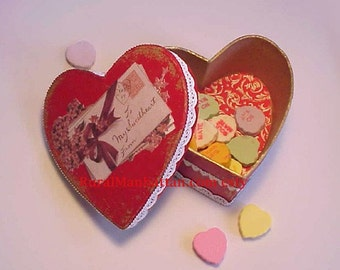 Valentines Heart Candy Box Valentines Day Candy Container