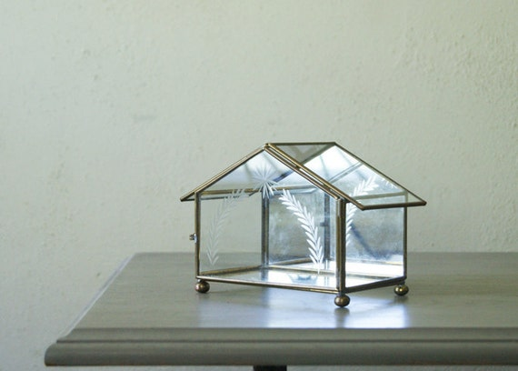 Glass Christmas Nativity  Box