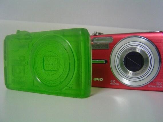 camera soap, green