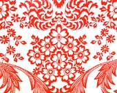 Red Lace Oilcloth -- Sold by the continous yard -- 8.00 per yard