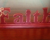 Wooden Words - Faith