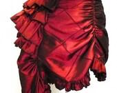 Custom Ruffle Bustle Skirt