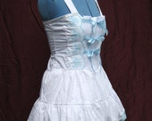 SALE White and Baby Blue Sweet Loli Sundress