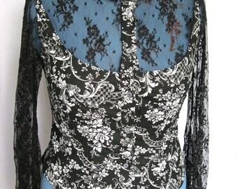SALE Elegant Lacy Sleeves Blouse