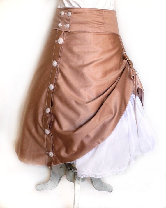 Custom Ruffle Steamy Skirt With Bustling Belt - Any Color