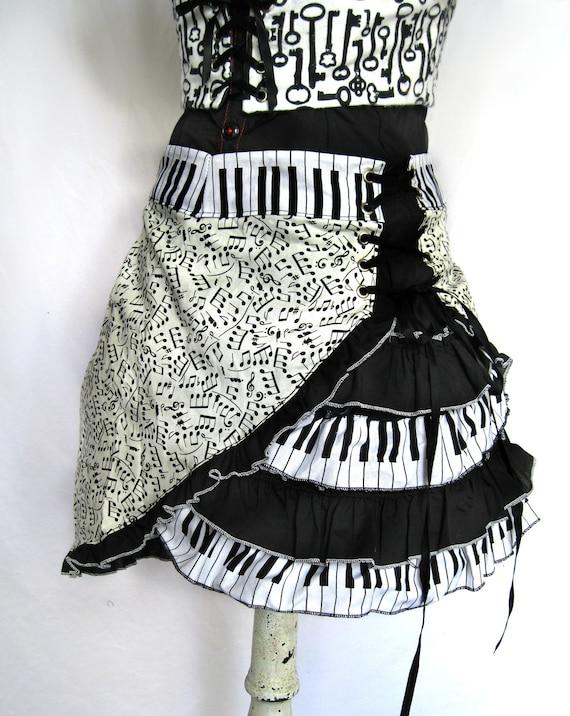 Ruffled Music Skirt