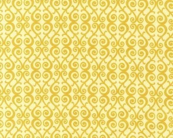 SALE - Organic Cotton Print by Free to Grow in Gold - 1 Yard