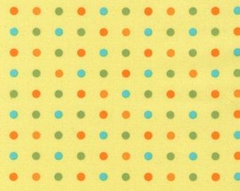 SALE - Organic Cotton Little One  Line in Sunshine Multi Dot by Katie Hennagir for Robert Kaufman- 1 Yard